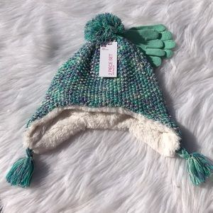 Other - Girl's sparkle hat/glove set